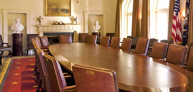 image of table used by US Cabinet