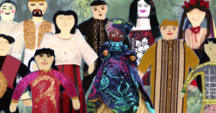 image of student-created paper dolls